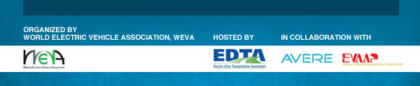 Organized by World Electric Vehicle Association, WEVA. Hosted by EDTA in collaboration with AVERE and EVAAP.
